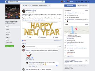 Angelinio's Coffee FB Post 1